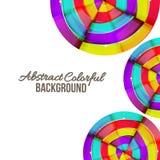 抽象五颜六色的彩虹曲线背景设计。 库存照片