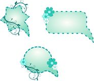 Μπλε σχεδιασμένες λεκτικές φυσαλίδες Στοκ Φωτογραφία