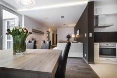 现代室内设计客厅 免版税库存图片