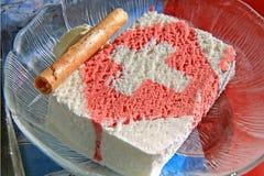 奶油色冰瑞士 免版税图库摄影