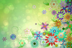 数字式引起的娘儿们花卉设计 免版税库存照片