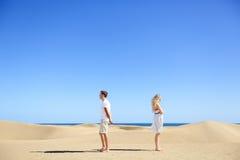 关系问题-生气夫妇论据 免版税库存图片