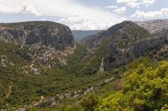 撒丁岛峡谷 免版税库存照片