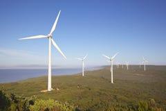阿尔巴尼风力场 免版税库存图片