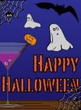 Счастливая поздравительная открытка хеллоуина Стоковое Изображение
