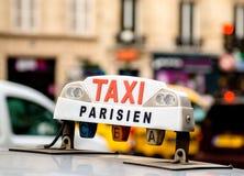出租汽车在巴黎 免版税图库摄影