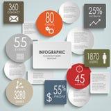 摘要被上色围绕长方形信息图表临时雇员 库存照片