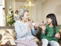 祖母和孙女 图库摄影