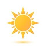 Απλή απεικόνιση του αφηρημένου ήλιου Στοκ Φωτογραφία