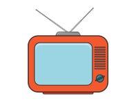 在颜色的电视机图画 免版税图库摄影