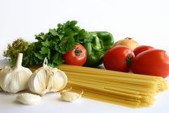 意大利面食准备 库存照片