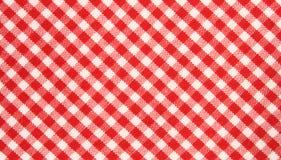 布料网格图形红色白色 免版税库存图片