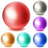 套多彩多姿的球形 免版税库存照片