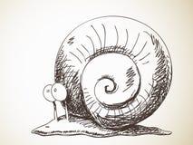 蜗牛剪影  免版税库存照片