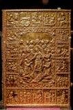 圣经盖子金子 免版税图库摄影