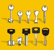 установленные ключи Стоковые Фотографии RF