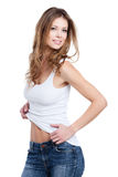 Блестящая молодая женщина Стоковое Изображение RF