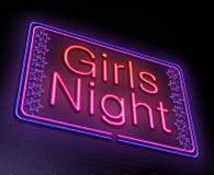 女孩夜概念 库存图片