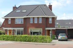 Σύγχρονο ολλανδικό οικογενειακό σπίτι, Ολλανδία Στοκ Εικόνα