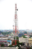 手机塔或手机塔 免版税库存图片
