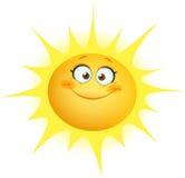 逗人喜爱的太阳 免版税库存照片