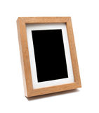 木照片框架(裁减路线) 免版税库存图片
