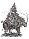 都市化的犀牛(传染媒介) 免版税库存图片