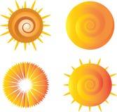Значки Солнця Стоковые Фотографии RF