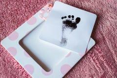 След ноги младенца Стоковая Фотография
