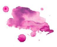 五颜六色的减速火箭的葡萄酒摘要水彩/水彩画艺术手油漆在白色背景 库存照片