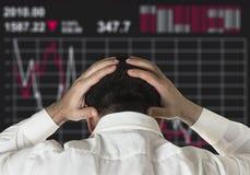 证券市场暴跌 库存照片