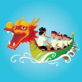 中国龙小船竞争例证 免版税图库摄影