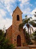 福音派路德教会教会在楚梅布 免版税库存照片