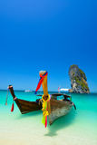 惊人的海滩风景在泰国 库存照片