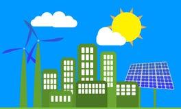 Зеленый город Стоковые Изображения