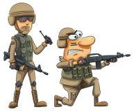 军队战士 免版税库存照片