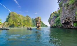 Остров Жамес Бонд в Таиланде Стоковое фото RF