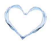 Καρδιά νερού Στοκ φωτογραφίες με δικαίωμα ελεύθερης χρήσης