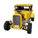 Желтый винтажный автомобиль Стоковая Фотография