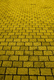 砖路黄色 免版税库存照片