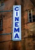 Кино подписывает внутри Италию Стоковые Фото