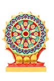 被隔绝的五颜六色的宗教标志。 库存照片