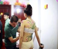 身体绘画 免版税库存图片