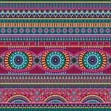 Картина абстрактного вектора племенная этническая безшовная Стоковое Изображение RF