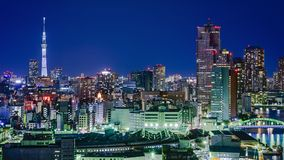 东京日本市地平线 免版税库存图片