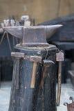 Железный наковальня Стоковая Фотография