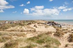Άμμοι κυρτώματος, κύρτωμα: αμμόλοφοι και η παραλία Στοκ φωτογραφία με δικαίωμα ελεύθερης χρήσης
