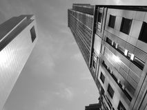 康卡斯特中心黑白的费城 库存照片