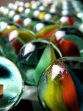 五颜六色的玻璃大理石 免版税库存照片