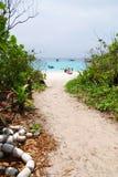 Путь к пляжу Стоковое Изображение RF